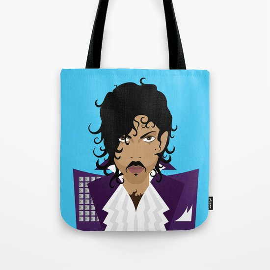 The Emoji-fication of His Purple Majesty: The Purple One Tote Bag