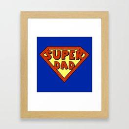 Funny super dad badge Framed Art Print
