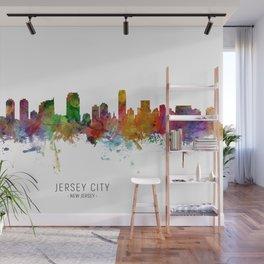 Jersey City New Jersey Skyline Wall Mural