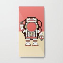 Friendly cosmonaut Metal Print