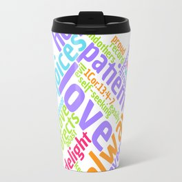 LOVE IS PATIENT 1 CORINTHIANS Word Art Travel Mug