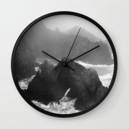 Rain Falling at Oregon's Indian Sands Wall Clock