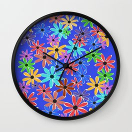 Spring Flowers Wall Clock