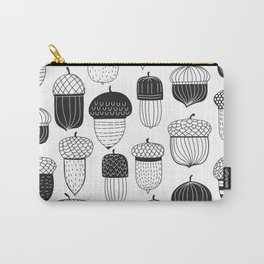 Doodle acorns autumn pattern Carry-All Pouch