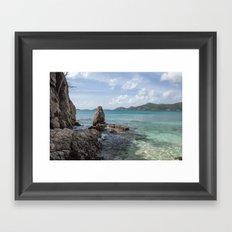 Caribbean Beach Photograph Framed Art Print