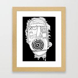 Head Framed Art Print