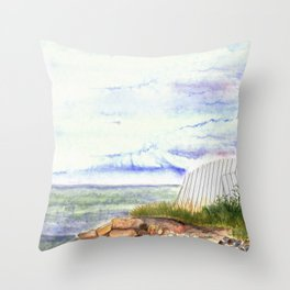little shore Throw Pillow