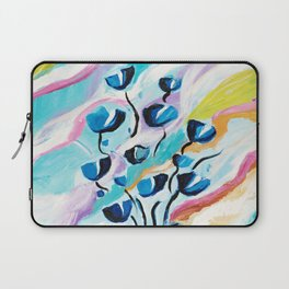 Modern Abstract Flowers Laptop Sleeve