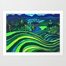 HEADED DOWNTOWN Art Print