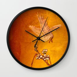 For He Has Wings Wall Clock