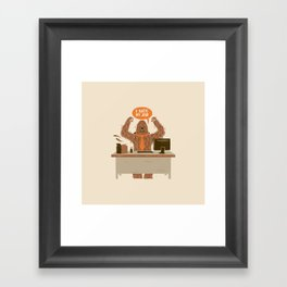 I Hate My Job Framed Art Print