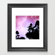 Cute centaurs silhouette Framed Art Print