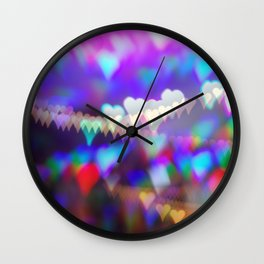 Christmas bokeh II Wall Clock