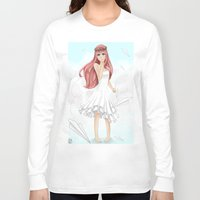 vocaloid Long Sleeve T-shirts featuring Luka Mergurine by Rinneii