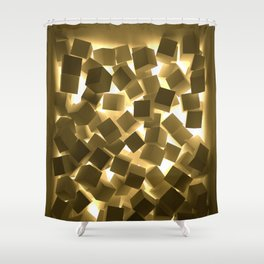 3D What Burns in Your Box? Shower Curtain