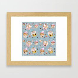 Happy cupcakes Framed Art Print