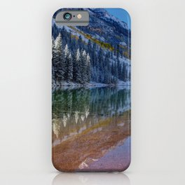Fall Season at Maroon Bells Panoramic Image iPhone Case