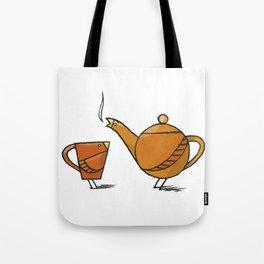 Tea Birds Tote Bag