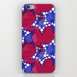 Blue Ankara Stars iPhone Skin