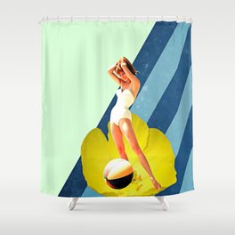 Summer Blossom Collage Shower Curtain