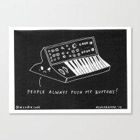 pun Canvas Prints featuring Moog pun by Alxndra Cook