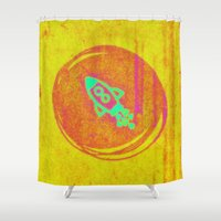 rocket Shower Curtains featuring  * Rocket * by Mr and Mrs Quirynen