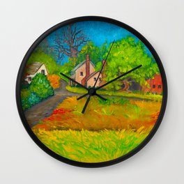 Starr From the Upstairs Window Wall Clock