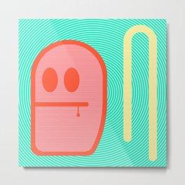 Grubbo Citrus Dim.  Metal Print