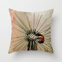 ladybug Throw Pillows featuring Ladybug  by Jonas Ericson