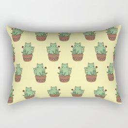 Cactus Cats (Yellow) Rectangular Pillow