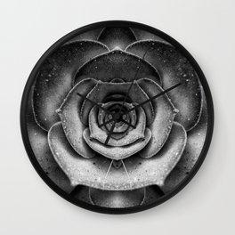 Seductive Succulent — Perfect Symmetry. Wall Clock