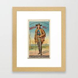 Vintage poster of the old American wild west Framed Art Print