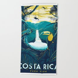costa rica rainforest Beach Towel