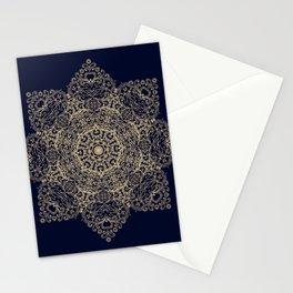 Golden star, mandala Stationery Cards