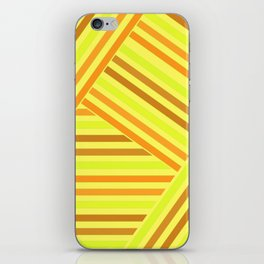 Bright yellow stripes iPhone Skin