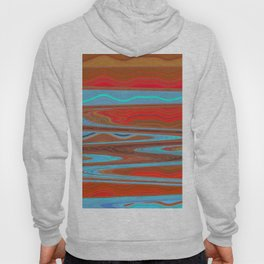 Abstract Retro Lava Water Deep Earth Landscape Hoody