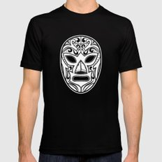 Mexican Wrestling Mask LARGE Mens Fitted Tee Black