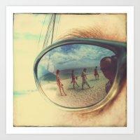 sunglasses Art Prints featuring Sunglasses by Jean-François Dupuis