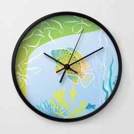 Sea Something Fishy Wall Clock