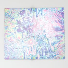Holographic Abstract Texture #13 Throw Blanket