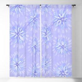 Blue Petal Rose Blackout Curtain