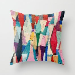 Painterly Moroccan Throw Pillow