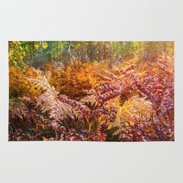 Autumn fern Rug