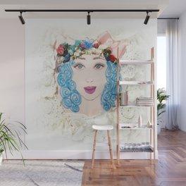 Pretty Girl Wall Mural