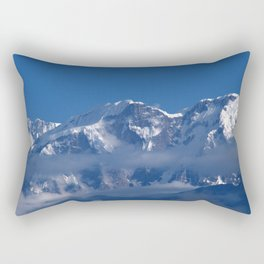Annapurna, Himalayan Mountain Range seen from Gaunshahar - Greg Katz Rectangular Pillow