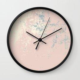 Patina blush pink gold Wall Clock