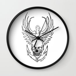Skull Anchor Wall Clock
