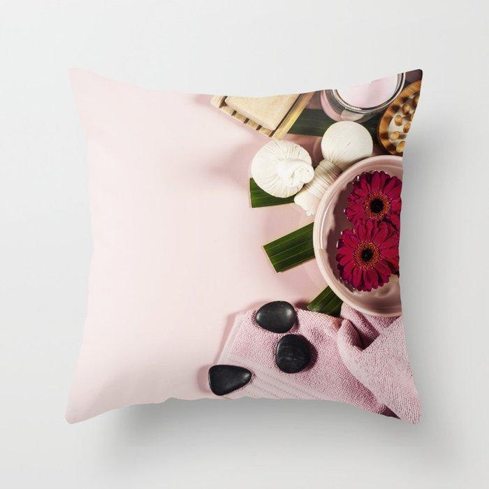 spa background Throw Pillow