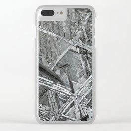Meteorite structure Clear iPhone Case