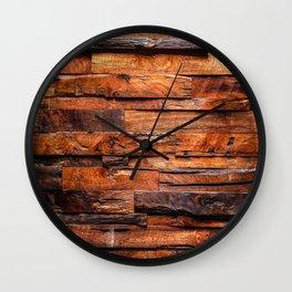 Beautifully Aged Wood Texture Wall Clock
